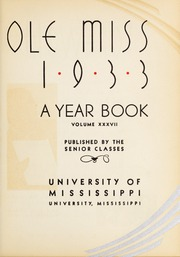 Page 9, 1933 Edition, University of Mississippi - Ole Miss Yearbook (Oxford, MS) online yearbook collection
