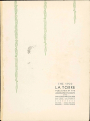 Page 7, 1933 Edition, San Jose State College - La Torre Yearbook (San Jose, CA) online yearbook collection
