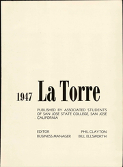 Page 7, 1947 Edition, San Jose State College - La Torre Yearbook (San Jose, CA) online yearbook collection