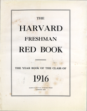 Page 3, 1916 Edition, Harvard University - Red Book Yearbook (Cambridge, MA) online yearbook collection