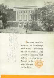 Page 7, 1935 Edition, Clay County Community High School - Orange and Black Yearbook (Clay Center, KS) online yearbook collection