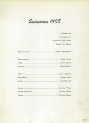 Page 7, 1958 Edition, Wyandotte High School - Quiverian Yearbook (Kansas City, KS) online yearbook collection