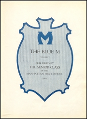 Page 11, 1924 Edition, Manhattan High School - Blue M Yearbook (Manhattan, KS) online yearbook collection