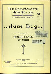 Page 7, 1922 Edition, Leavenworth Senior High School - Junebug Yearbook (Leavenworth, KS) online yearbook collection