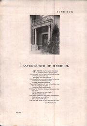 Page 14, 1931 Edition, Leavenworth Senior High School - Junebug Yearbook (Leavenworth, KS) online yearbook collection