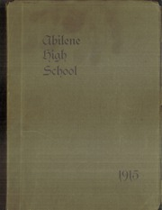 Abilene High School - Orange and Brown Yearbook (Abilene, KS) online yearbook collection, 1915 Edition, Page 1