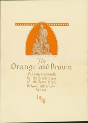 Page 5, 1928 Edition, Abilene High School - Orange and Brown Yearbook (Abilene, KS) online yearbook collection