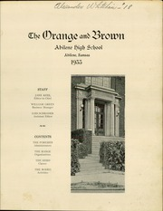 Page 3, 1933 Edition, Abilene High School - Orange and Brown Yearbook (Abilene, KS) online yearbook collection