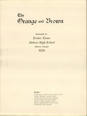 Page 3, 1934 Edition, Abilene High School - Orange and Brown Yearbook (Abilene, KS) online yearbook collection