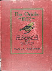1922 Edition, Paola High School - Panther Yearbook (Paola, KS)