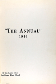 Page 6, 1916 Edition, Hutchinson High School - Allagaroo Yearbook (Hutchinson, KS) online yearbook collection