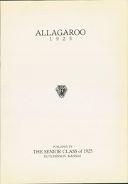 Page 7, 1925 Edition, Hutchinson High School - Allagaroo Yearbook (Hutchinson, KS) online yearbook collection