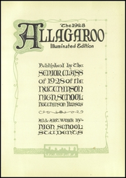Page 7, 1928 Edition, Hutchinson High School - Allagaroo Yearbook (Hutchinson, KS) online yearbook collection