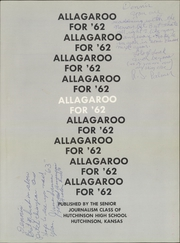 Page 5, 1962 Edition, Hutchinson High School - Allagaroo Yearbook (Hutchinson, KS) online yearbook collection