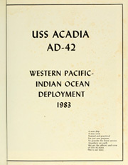 Page 5, 1983 Edition, Acadia (AD 42) - Naval Cruise Book online yearbook collection