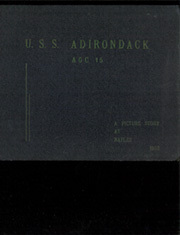 1952 Edition, Adirondack (AGC 15) - Naval Cruise Book