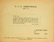Page 5, 1952 Edition, Adirondack (AGC 15) - Naval Cruise Book online yearbook collection