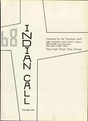 Page 7, 1968 Edition, Hays High School - Indian Call Yearbook (Hays, KS) online yearbook collection