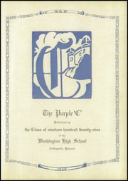 Page 5, 1929 Edition, Washington High School - Hatchet Yearbook (Kansas City, KS) online yearbook collection