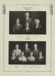 Page 14, 1921 Edition, Lawrence High School - Red and Black Yearbook (Lawrence, KS) online yearbook collection