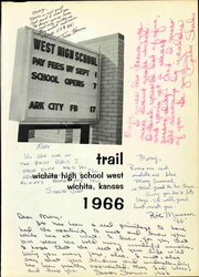 Page 7, 1966 Edition, West High School - Trail Yearbook (Wichita, KS) online yearbook collection