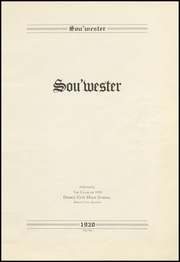 Page 5, 1920 Edition, Dodge High School - Sou Wester Yearbook (Dodge City, KS) online yearbook collection