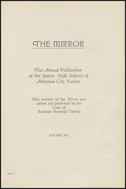 Page 5, 1920 Edition, Arkansas City High School - Mirror Yearbook (Arkansas City, KS) online yearbook collection