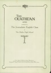 Page 5, 1921 Edition, Olathe High School - Eagle Yearbook (Olathe, KS) online yearbook collection