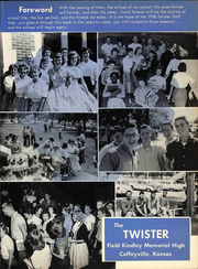 Page 9, 1958 Edition, Field Kindley High School - New Direction Yearbook (Coffeyville, KS) online yearbook collection
