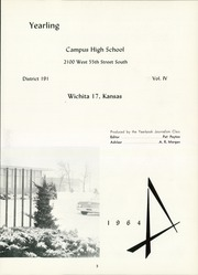 Page 7, 1964 Edition, Campus High School - Yearling Yearbook (Wichita, KS) online yearbook collection