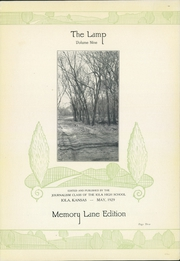 Page 5, 1929 Edition, Iola High School - Lamp Yearbook (Iola, KS) online yearbook collection
