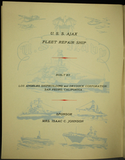Page 10, 1944 Edition, Ajax (AR 6) - Naval Cruise Book online yearbook collection