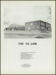 Page 5, 1952 Edition, Lansing High School - Lion Yearbook (Lansing, KS) online yearbook collection