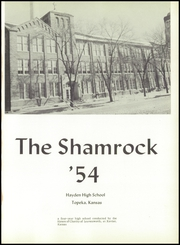 Page 5, 1954 Edition, Hayden High School - Shamrock Yearbook (Topeka, KS) online yearbook collection
