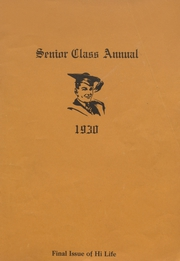 Page 1, 1930 Edition, Colby High School - Golden Eagle Yearbook (Colby, KS) online yearbook collection