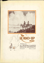 Page 9, 1922 Edition, Baylor University - Round Up Yearbook (Waco, TX) online yearbook collection