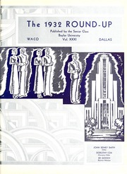 Page 7, 1932 Edition, Baylor University - Round Up Yearbook (Waco, TX) online yearbook collection