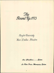 Page 9, 1953 Edition, Baylor University - Round Up Yearbook (Waco, TX) online yearbook collection