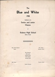 Page 5, 1938 Edition, Galena High School - Blue and White Yearbook (Galena, KS) online yearbook collection