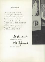 Page 8, 1959 Edition, Ellsworth High School - Elkan Yearbook (Ellsworth, KS) online yearbook collection