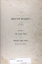Page 7, 1925 Edition, Rosedale High School - Mounty Marty Yearbook (Kansas City, KS) online yearbook collection