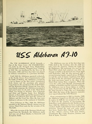 Page 7, 1953 Edition, Aldebaran (AF 10) - Naval Cruise Book online yearbook collection