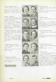 Page 16, 1939 Edition, Yates Center High School - Wildcat Yearbook (Yates Center, KS) online yearbook collection