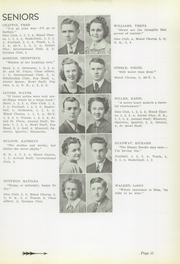 Page 17, 1939 Edition, Yates Center High School - Wildcat Yearbook (Yates Center, KS) online yearbook collection