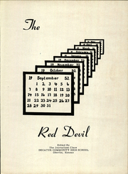 Page 7, 1953 Edition, Decatur Community High School - Red Devil Yearbook (Oberlin, KS) online yearbook collection