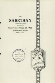 Page 5, 1925 Edition, Sabetha High School - Blue Jay Yearbook (Sabetha, KS) online yearbook collection