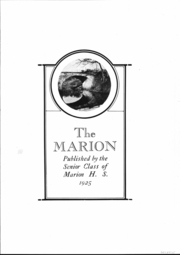 Page 2, 1925 Edition, Marion High School - Warrior Yearbook (Marion, KS) online yearbook collection