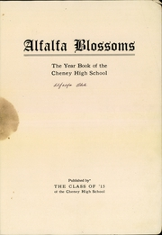 Page 5, 1915 Edition, Cheney High School - Alfalfa Blossoms Yearbook (Cheney, KS) online yearbook collection
