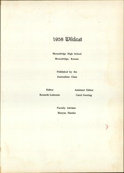 Page 5, 1958 Edition, Moundridge High School - Wildcat Yearbook (Moundridge, KS) online yearbook collection