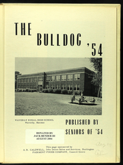 Page 7, 1954 Edition, Waverly High School - Annual Yearbook (Waverly, KS) online yearbook collection